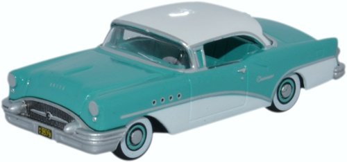 Buick Century, Turqois/white, 1955, Model Car, Ready-made, Oxford 1:87 Buick Century Diecast Model