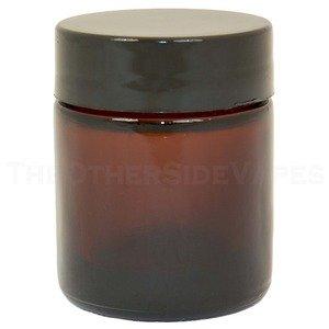 Mini Amber Glass Jar