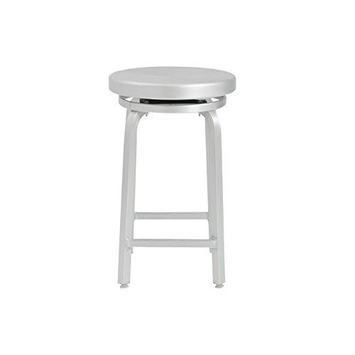 (Euro Style Miller Counter Height Swivel Stool, Aluminum )