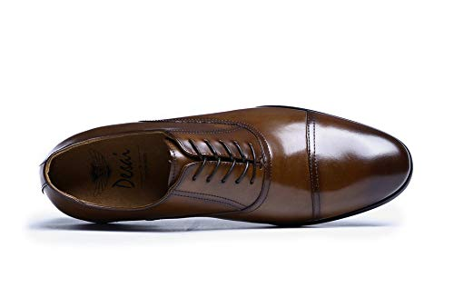 para Hombres EU Cuero Grano Zhuxin Size Brown de Zapatos Cuero de Negocios Retro Oxford Zapatos de de Black Completo de 45 Vestir Patente de de Color HSS7Uw