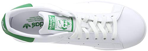 adidas Originals Men's Stan Smith Leather Sneaker, Footwear White/Core White/Green, 11.5