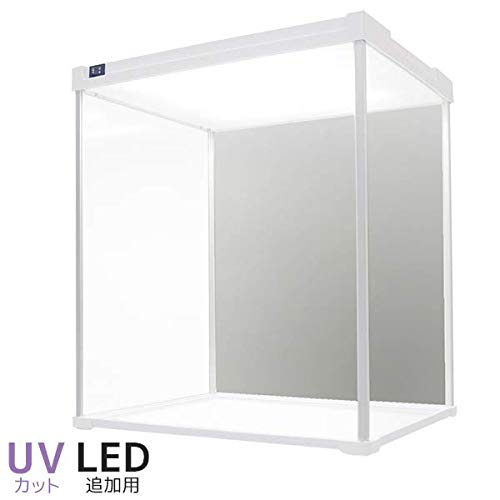 【増設用】 UVカット版登場 Fケース ノーマル型LEDタイプ UVカット アクリルケース コレクションケース LED 卓上 フィギュアケース アクリル ショーケース (背面ミラー) (LED追加用タイプ) LED追加用タイプ  B07Q6CH4Z6