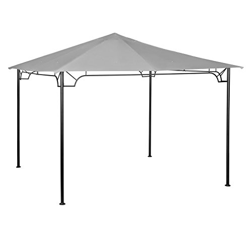 - Garden Winds Replacement Canopy for 10 x 10 Accented Frame Gazebo - Riplock 350 - Slate Gray