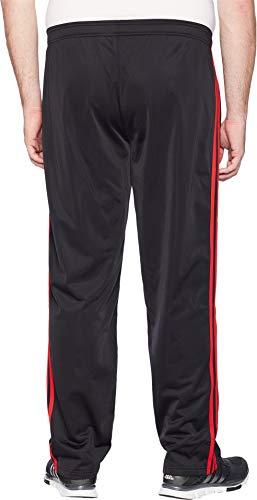 adidas Men's Big & Tall Essentials 3-Stripes Regular Fit Tricot Pants Black/Scarlet Medium 34 Tall 34 by adidas (Image #2)