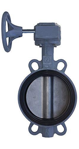 "4"" Gear Operated Butterfly Valves for Irrigation, Stainless Steel Disc, EPDM Seal, Epoxy Coating Cast Iron Body, 2 Year Warranty, by Zote (4"")"