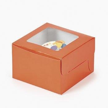 (Dozen Orange Cupcake Boxes)