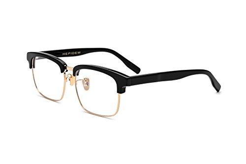 HEPIDEM Acetate Square Glasses Frame Women Brand Designer Prescription Eyeglasses Optical glasser Frame 5234(Black - Frames Optical Big