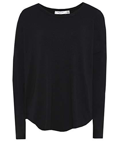 Rag & Bone/JEAN Women's Hudson Long Sleeve Tee, Black, Small
