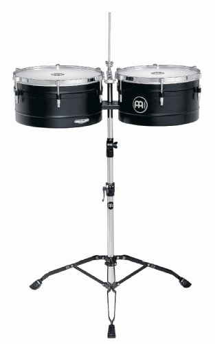 Meinl Percussion AV1BK Artist Series Steel Timbales, Black, 14-Inch and 15-Inch by Meinl Percussion