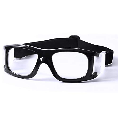 Flantor Outdoor Sports Goggles Over Glasses, Anti Shock Collision Protective Safety Goggles with Silicone Padding,Adjustable Strap for Basketball Football Hockey Rugby Baseball Soccer ()