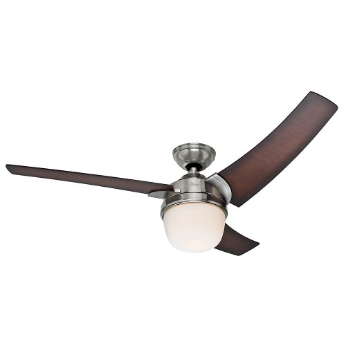 Hunter 59054 Eurus Ceiling Fan, 54-Inch, Brushed Nickel ()