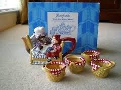 Department 56 Storybook Tea Set- Little Red Riding Hood
