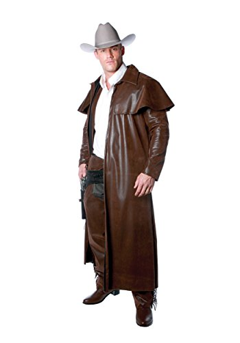 Cowboy Duster Coat Adult Men's Costume (Standard) (Lone Cowboy Adult Costume)