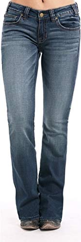 - Rock & Roll Denim Boyfriend Extra Stretch Dark Vintage Jean, 33x30
