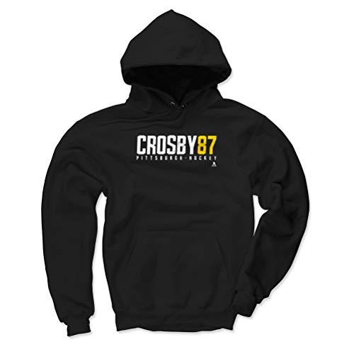 500 LEVEL Sidney Crosby Pittsburgh Penguins Hoodie Sweatshirt (Large, Black) - Sidney Crosby Crosby87 W WHT
