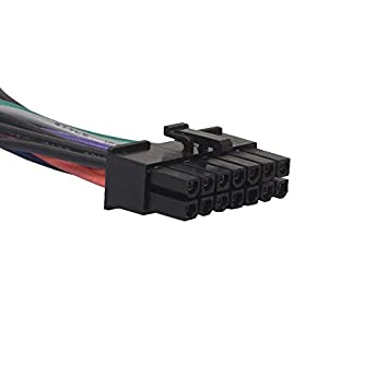 4-Inch Schwarz ATX PSU Hauptnetzadapterkabel Plug /& Play f/ür Lenovo IBM Dell A75 B75 Q75 Q77 24-Pin auf 14-Pin-Kabel