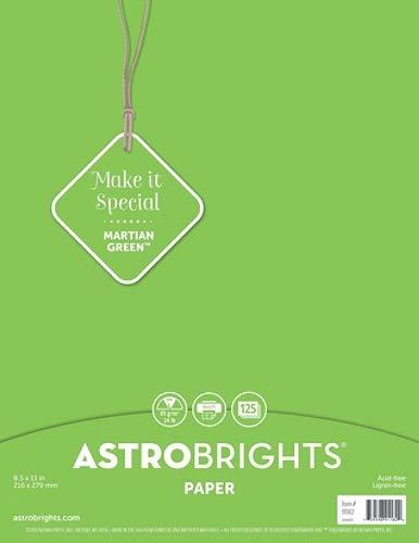 Astrobrights Martian Green paper 24 lb. 125 sheets 8.5x11