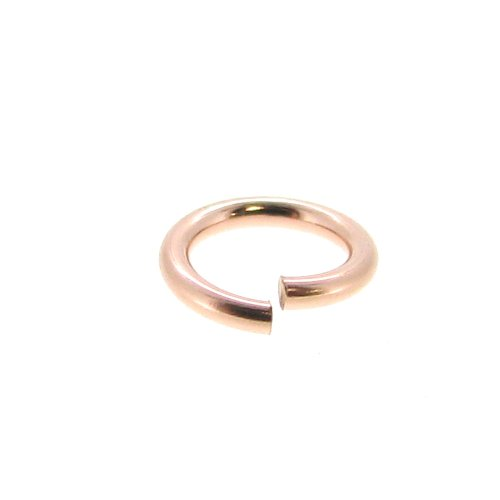 10 pcs 14k Rose Gold Filled 5mm Round Open Jump Rings 21 Gauge / 0.7mm Wire / Connector / Findings / Rose Gold