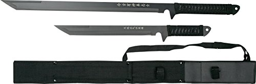- BladesUSA HK-1067 Twin Ninja Swords, Black, 18-Inch and 26-Inch Lengths