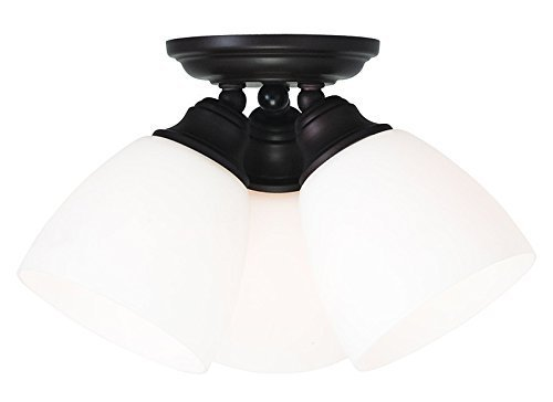 Livex Lighting 13664-07 Somerville 3-Light Ceiling Mount, Bronze by Livex Lighting by Livex Lighting