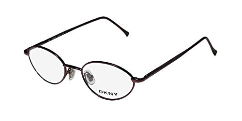 DKNY 6218 Mens/Womens Designer Full-Rim Shape Spring Hinges American Adult Eyeglasses/Spectacles (48-18-135, Shiny Eggplant)