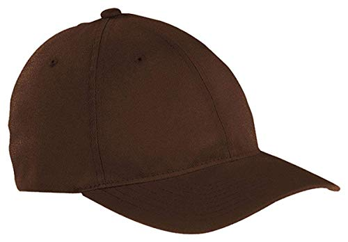 Flexfit/Yupoong Men's Low-Profile Unstructured Fitted Dad Cap, Brown, L/XL