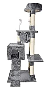 """Roypet Newest Design 51"""" Cat Tree with Scratching Post and Ramp, Grey"""