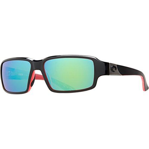 Costa Peninsula 400G Sunglasses - Polarized Black/Coral-Green Mirror, One - Sunglasses Peninsula Costa