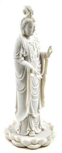 Bellaa 23712 Kuan Yin Statue Guanyin Goddess of Mercy 9 inch