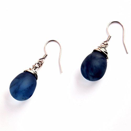 Crimmy-Wire Winding Smoky BlueTopaz Stone-Designer's Earring for Women