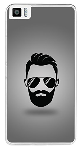 Tumundosmartphone Funda Gel TPU para BQ AQUARIS M5.5 / M 2017 diseño Barba Dibujos