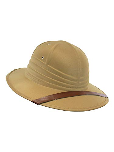 Nicky Bigs Novelties Safari British Pith Helmet Costume Hat Tan -