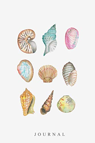(Journal: Watercolor Sea Shells, Lined Journal Notebook, 6 x 9 inch (15.24 x 22.86 cm) ,120 Pages)