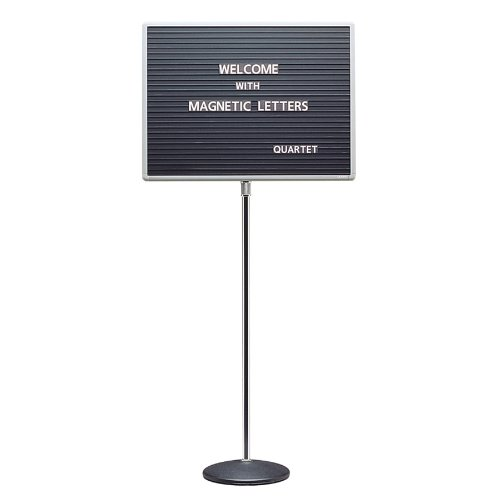Quartet 7920M Quartet Adjustable Single-Pedestal Magnetic Letter Board, 20 x 16, BLK/GY Frame by Quartet