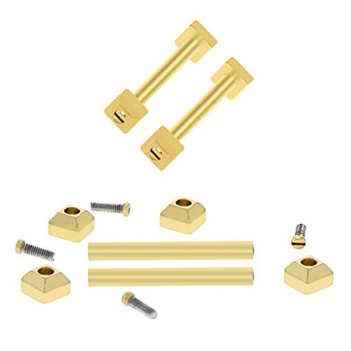 SCREW TUBES PIN FIT CARTIER PASHA BAND STRAP BAND BRACELET LUG FOR 20MM #1 GOLD