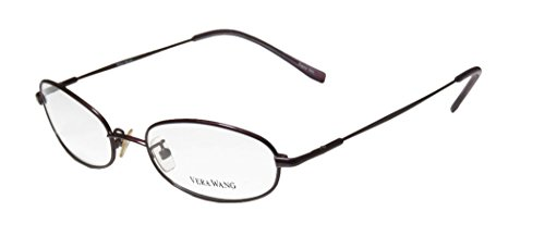 Vera Wang V17 Womens/Ladies Designer Full-rim Eyeglasses/Eyeglass Frame (50-17-135, Blackberry)