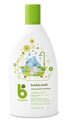 Babyganics Baby Bubble Bath, Chamomile Verbena, 20oz Bottle,...