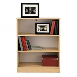 Small Bookcase Beech 3 Open Shelves Selby