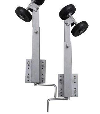 SKB Family Boat Trailer Double Roller Bow Support Set of 2 2' - 3' Steel Zinc Coated Steel - 3' Bow Roller