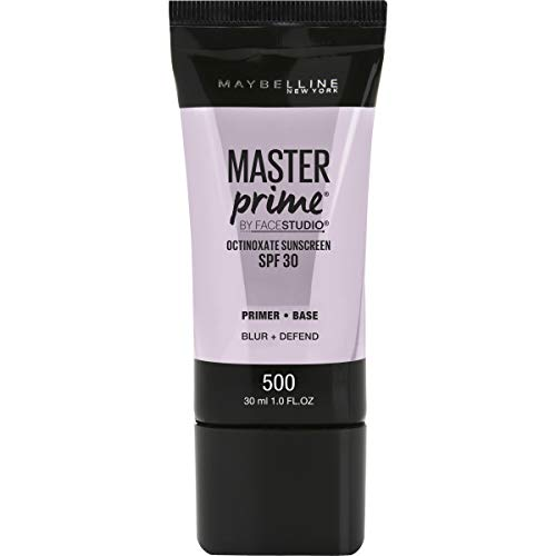 Maybelline New York Facestudio Master Prime Primer Makeup, Blur+ Defend, 1 fl. oz.