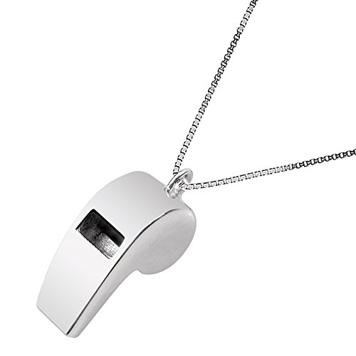 silver whistle charm - 3