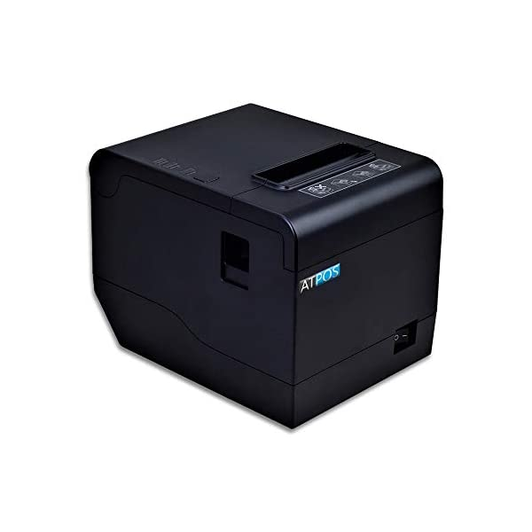 AtPOS AT-302 80mm (3 Inches) Direct Thermal Printer | Auto Cutter | ESC/POS Print Billing (USB+LAN)