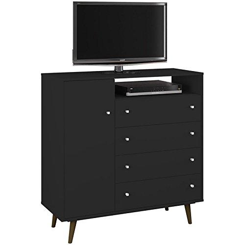 Manhattan Comfort 210BMC8 Liberty Modern Bed, Black (Tv Stand And Dresser)
