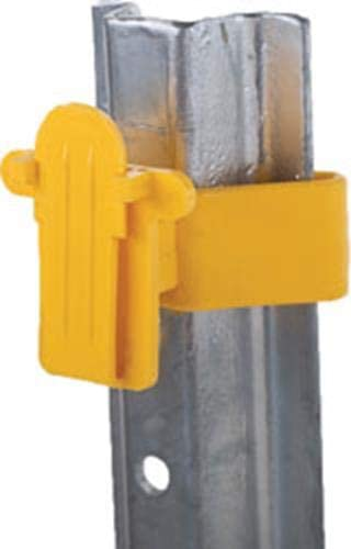 Dare SNUG-SU-25 Snug Chain Link /& U-Post Insulators 25-Pack Yellow