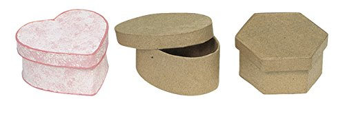 chenille-kraft-441947-papier-mache-mini-box-oval-3-1-2-x-1-1-2-size-brown