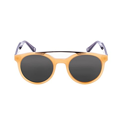 Ocean Sunglasses Tiburon Lunettes de Soleil Mixte Adulte, Shiny Black/Smoke Lens