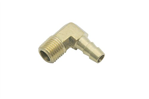 LTWFITTING Lead Free 90 Deg Elbow Brass Barb Fitting 5/16