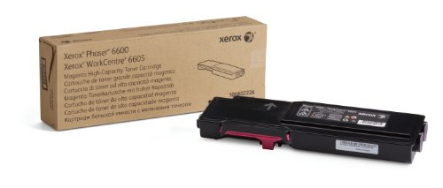 Genuine Xerox High Capacity Magenta Toner for the Phaser 6600 or WorkCentre 6605, 106R02226