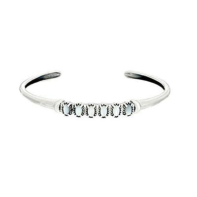 American West Sterling Silver & Gemstone Cuff Bracelet