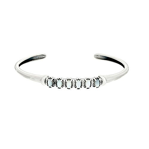 American West Sterling Silver Mother of Pearl Cuff Bracelet (Bracelet Pearl American Pearl)
